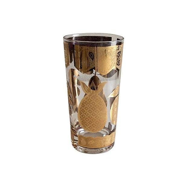 Image of Culver 22k Gold Fruit Highball Glasses - Set of 4