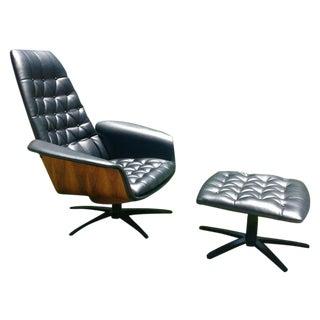Mid Century Modern Plycraft Lounge Chair & Ottoman