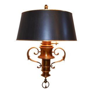 Brass Stiffel Hanging Lamp and Shade