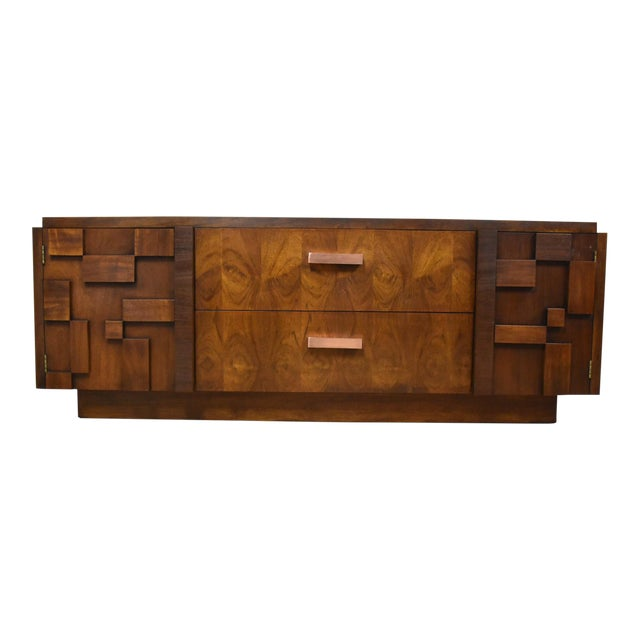 Lane Brutalist Console Credenza - Image 1 of 10