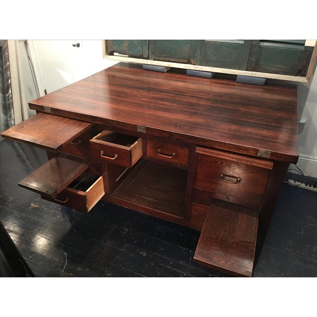 Kitchen Island Made From Old Desk: Vintage Desk-Style Kitchen Island