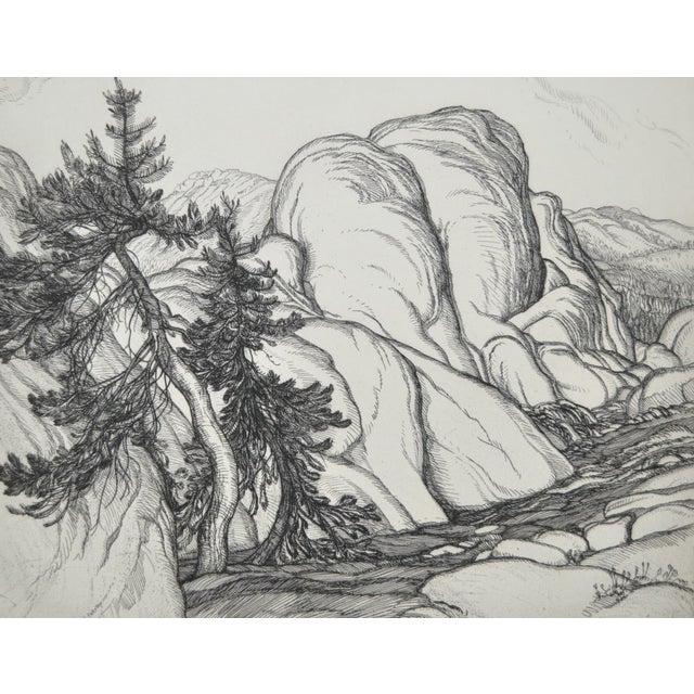 """""""Ice Worn Granite"""" Vintage Etching by Roi Partridge - Image 6 of 6"""