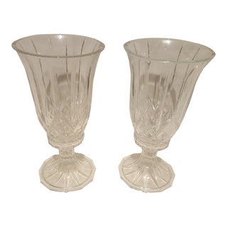 Crystal Candle Holders - A Pair
