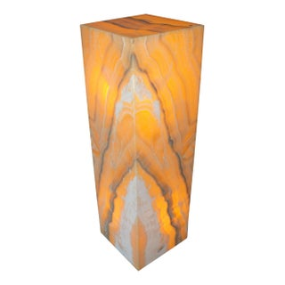 Onyx Orange Square Lamp