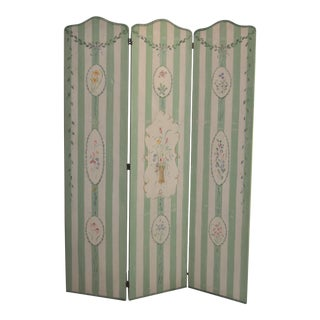 Handpainted Canvas Trifold Screen
