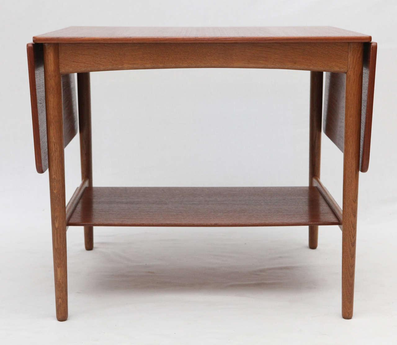 Hans Wegner Drop Leaf Side Table   Image 3 Of 9