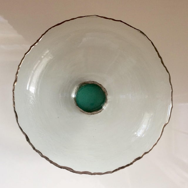 """Annieglass """"Edgey"""" Glass Trophy Bowl - Image 6 of 8"""