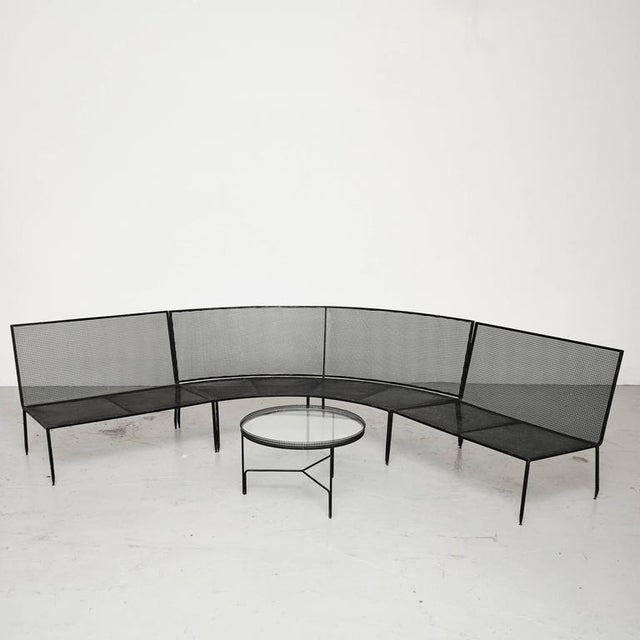 Image of Set of Mathieu Mategot Sofa and Coffee Table, circa 1950