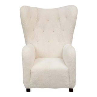 Fritz Hansen High Back Easy Chair Model 1672 in Sheepskin