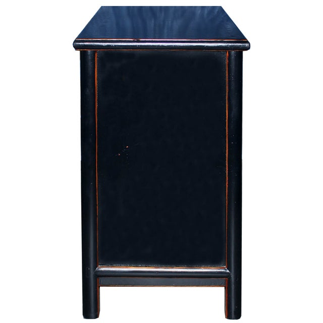 Two-Drawer Black Lacquer Cabinet - Image 5 of 5