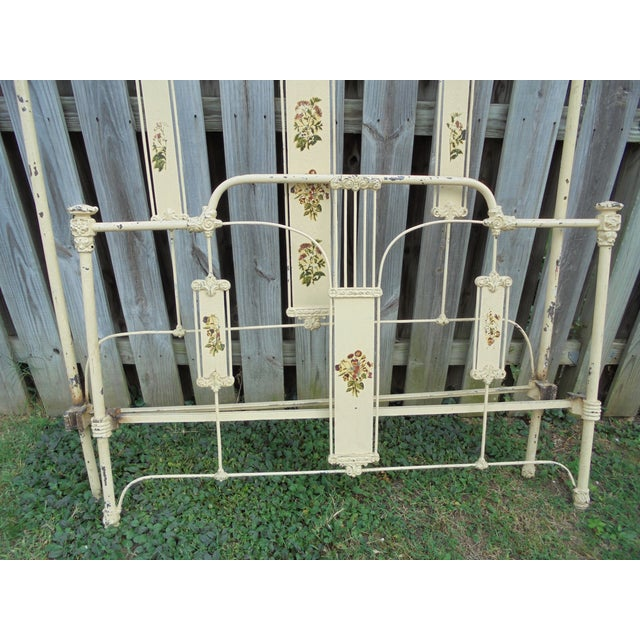 Antique Iron Full Bed - Image 7 of 12