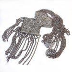 Image of Silvertone Egyptian Revival Necklace