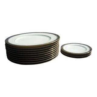"""Vintage Noritake China """"Spell Binder"""" Plates - Set of 14"""