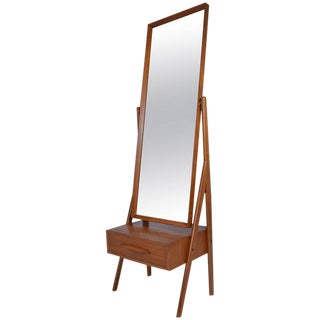1960s Danish Modern Cheval Mirror by Arne Vodder