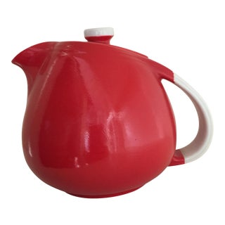 Hall Pottery Vintage Chinese Red Teapot
