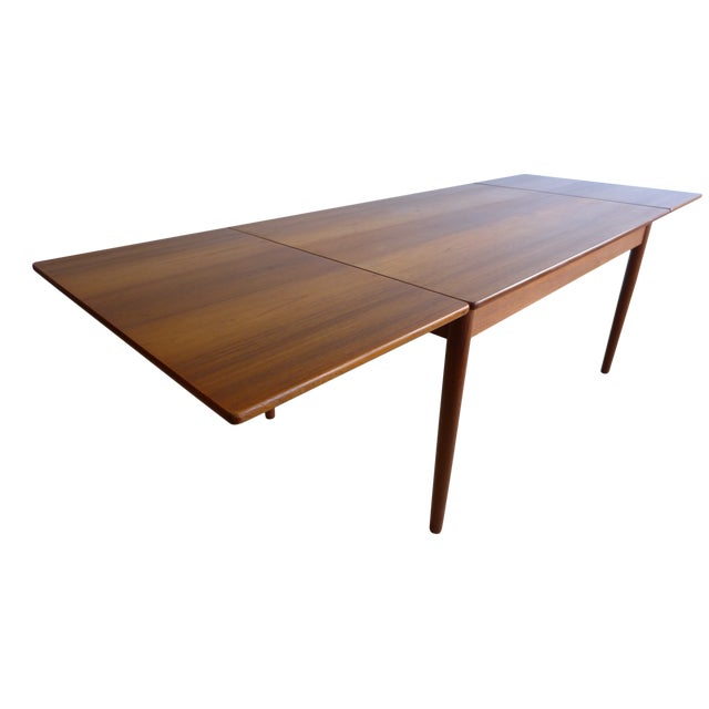 Hans Wegner Draw Leaf Teak Dining Table - Image 1 of 9