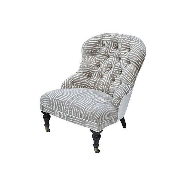 Mudcloth Boudoir Chair - Image 3 of 9