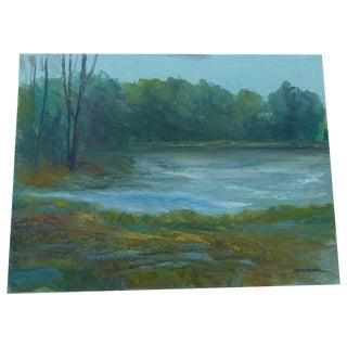"M.F. Musgrave ""Magnolia"" Vintage Painting"