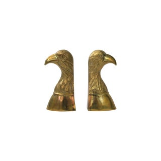 Brass Eagle Bookends - A Pair