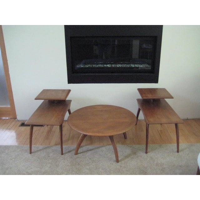 Mid Century Coffee Table And End Tables: Heywood Wakefield Mid-Century Coffee Table & End Tables