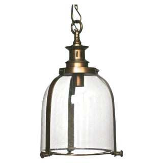 Glass & Brass Pendant Light