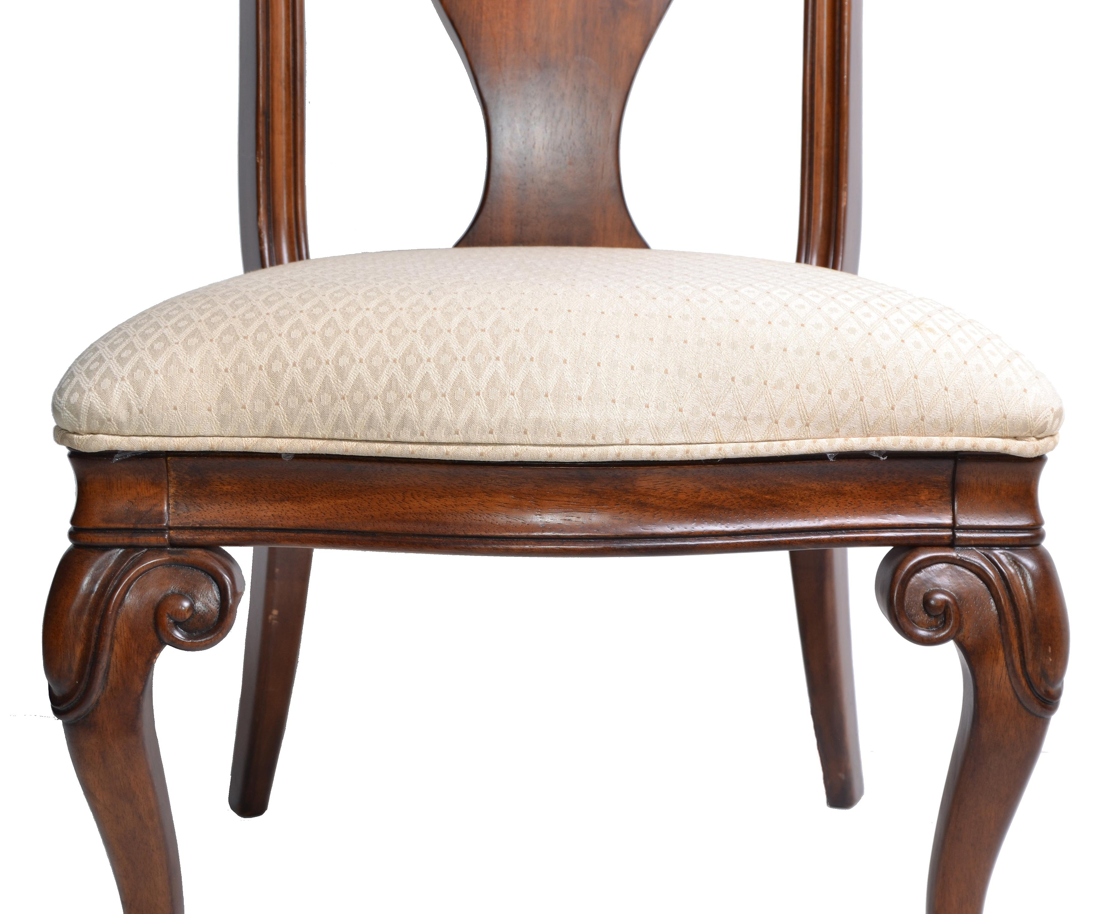 Traditional Wood Dining Chairs traditional wooden dining chairs - set of 4 | chairish