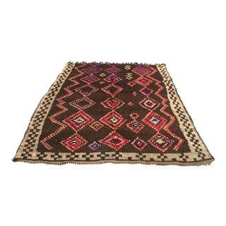 "Vintage Moroccan Azilal Rug- 5'5"" x 7'3"""