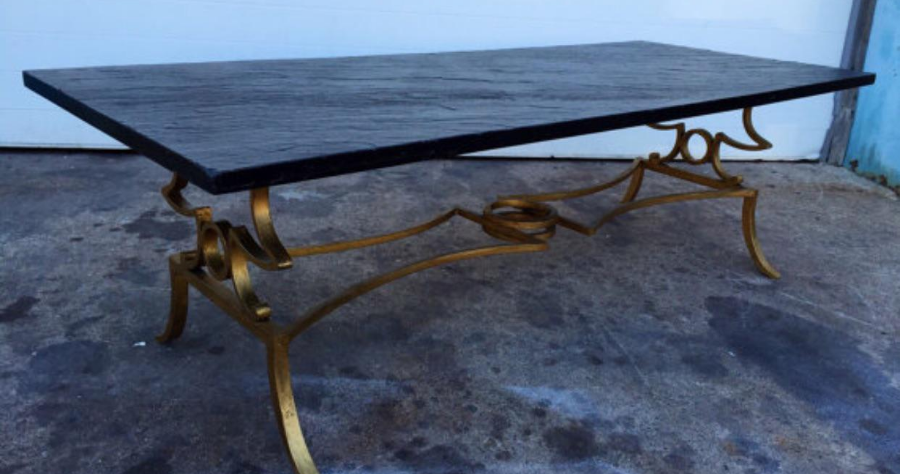 Slate Top Gold Gilded Coffee Table   Image 4 Of 6