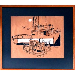 """Mauro Malang Santos """"Boat & Dingy"""" Serigraph"""