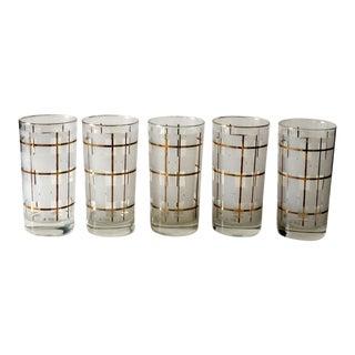 Libbey 22k Gold Glasses - Set of 5