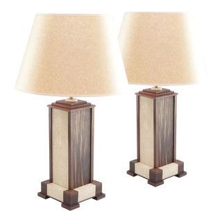 Macassar Ebony Lamps