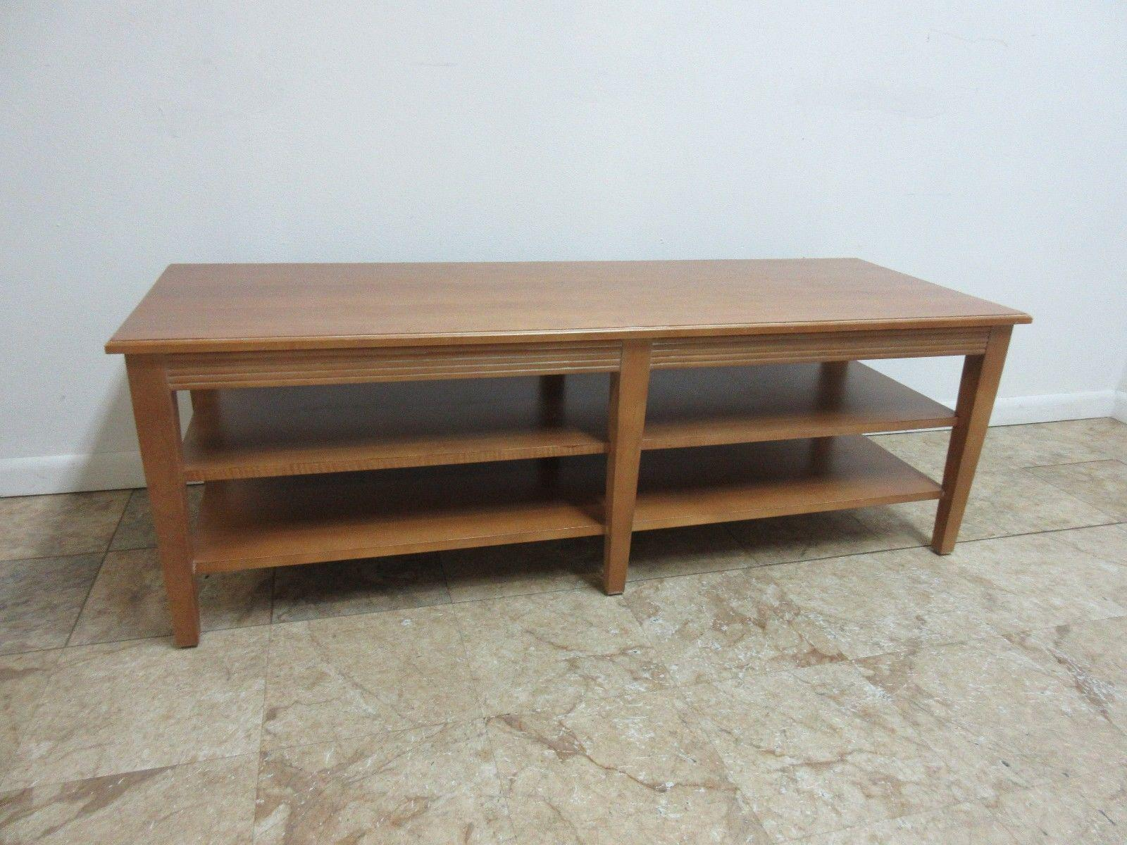 Ethan Allen Swedish Home Long Coffee Table   Image 3 Of 8