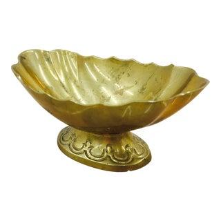 Vintage Scalloped Brass Dish