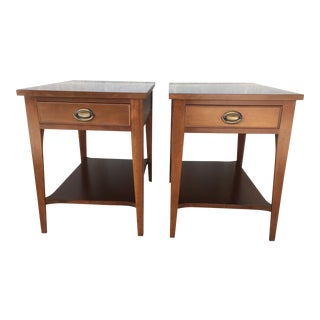 Craftique Solid Cherry End Tables - A Pair