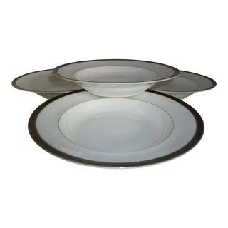 Mikasa Black Tie Bone China Soup Bowls - Set of 8