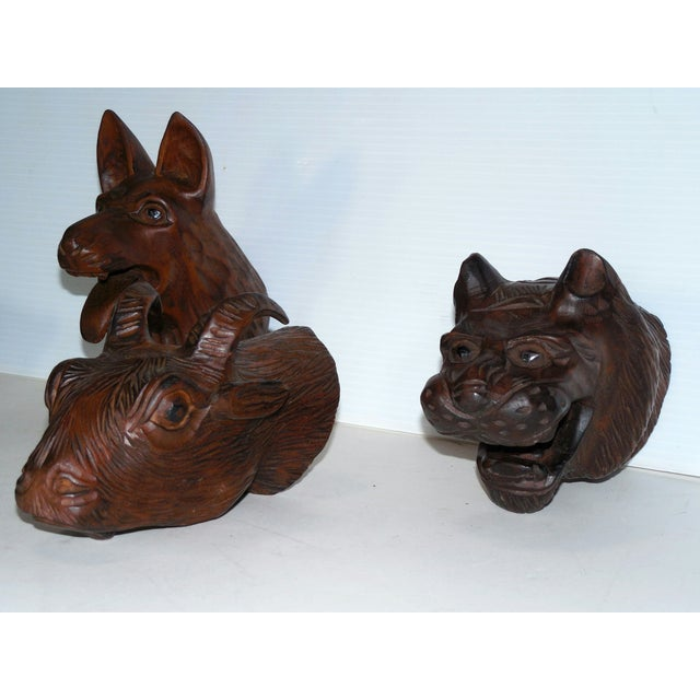Carved Wood Chinese Zodiac Mounts - Image 5 of 9