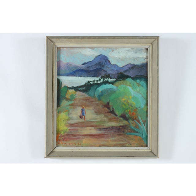 Image of Beach Road Landscape Original Oil Painting