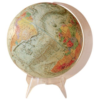 Vintage Vibrantly Colored Globe on Acrylic Stand