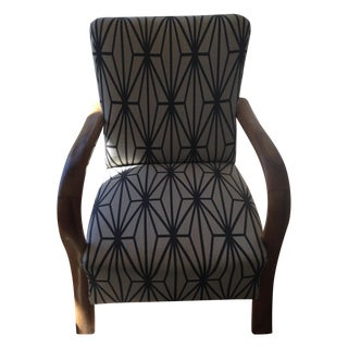 French Geometric Armchairs- A Pair