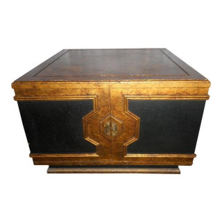 Black Asian Square Table