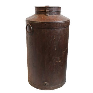 Vintage Iron Grain Canister