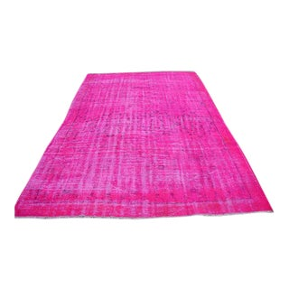 """Pink Overdyed Rug - 79"""" x 113"""""""