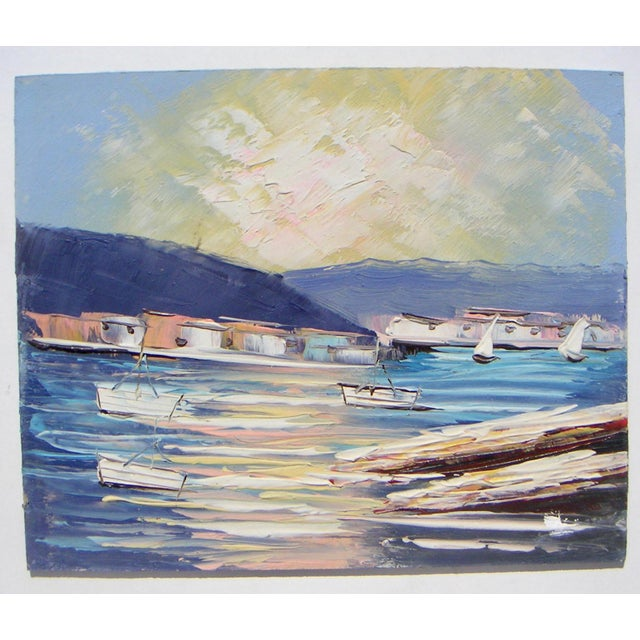 Sausalito California Modernism Painting - Image 2 of 4