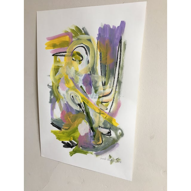 "Jessalin Beutler ""No. 86"" Acrylic Painting - Image 4 of 6"