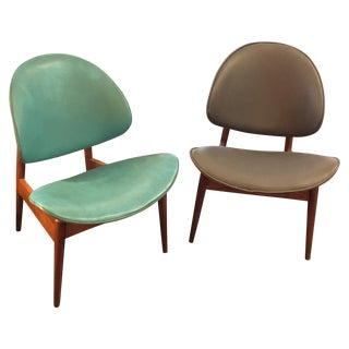 Kodawood Sculptural Bentwood Clam Chairs - Pair
