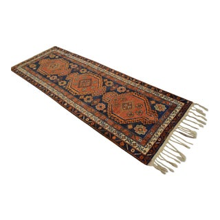 "Kurdish Hand Knotted Runner - 3'3"" x 9'3"""