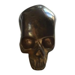 Vintage Brass Skull Head