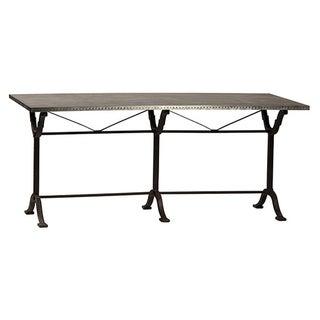 Metal Sheet Top Dining Table