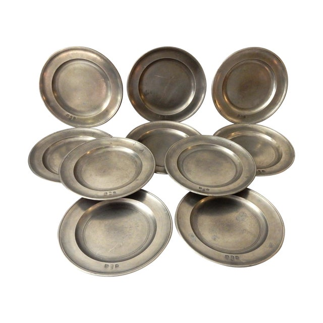 Traditional Pewter Sous Plats - Set of 10 - Image 1 of 9