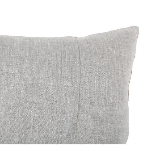 Vintage Cotton & Rayon Embroidered Suzani Pillow - Image 5 of 5